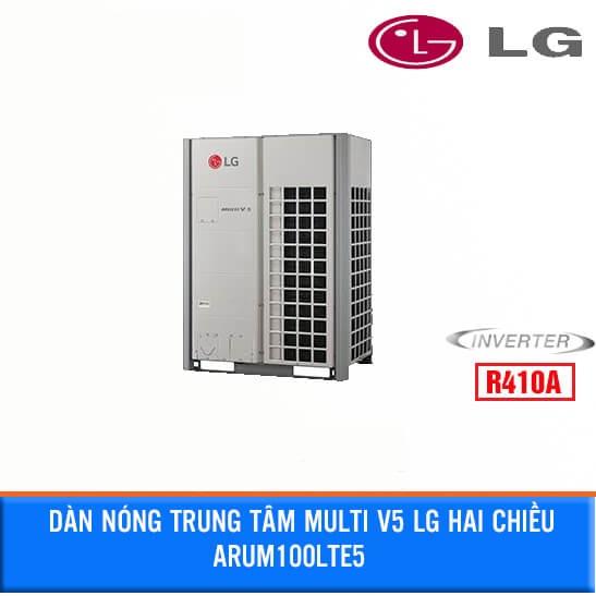 Dàn Nóng điều hòa trung tâm MULTI V5 LG 10HP 2 Chiều lạnh/sưởi đồng thời ARUM100LTE5