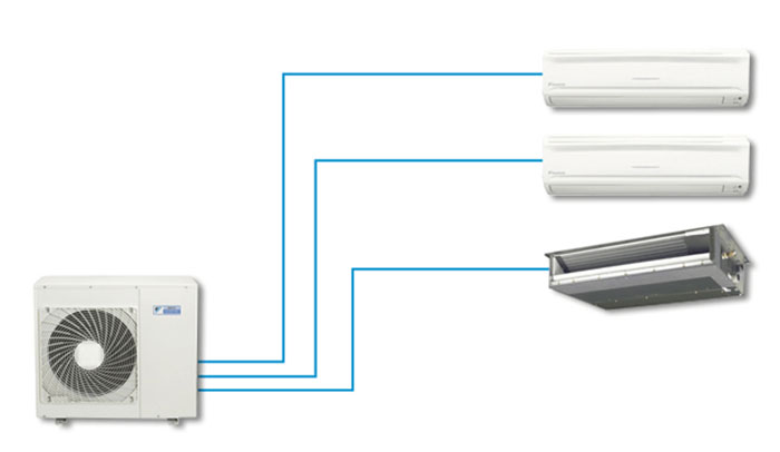 Dàn Nóng Điều Hòa Multi Daikin Inverter 1 Chiều 18.000 BTU (3MKM52RVMV)